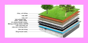 Các lớp vật liệu trồng cây trên mái