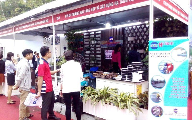 Hạ Tầng Việt tham gia triển lãm Vietbuild mặt hàng vỉ nhựa thoát nước