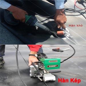 Hàn khò màng chống thấm HDPE