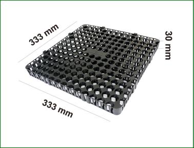 Vỉ nhựa thoát nước 333x333x30mm