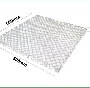 Vỉ nhựa thoát nước nguyên sinh 500x500x30mm