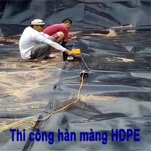 Thi công hàn màng chống thâm HDPE